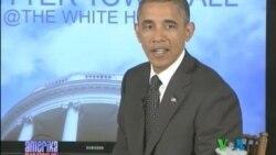 """Obama """"Twitter"""" orqali xalq bilan gaplashdi"""