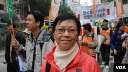 香港立法會議員何秀蘭認為,梁振英及劉夢熊應該到立法會,交待涉及特首選舉賄選等黑材料的真憑實據(美國之音湯惠芸)