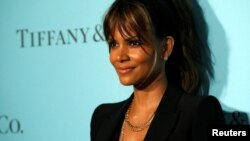 Actor Halle Berry poses at a reception for the reopening of the Tiffany & Co. store in Beverly Hills, Calif., Oct. 13, 2016.