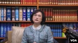 台湾外交部发言人王珮玲(美国之音记者杨明 拍摄)