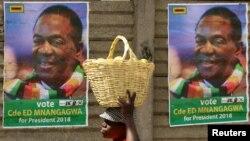 Ifoto yerekana amabarabara ya Zimbabwe yatanguye gushirako abazohiganira intebe y'umukuru w'igihugu