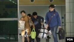 在開城工業園區的韓國人﹐過去一星期已經有部份離開。