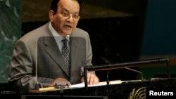 Le secrétaire général de la CEEAC Allam-Mi Ahmad devant les Nations unies à New York, le 22 septembre 2006.