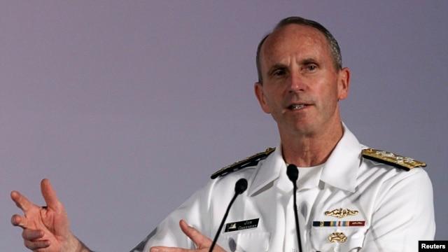 FILE - U.S. Navy Admiral Jonathan Greenert