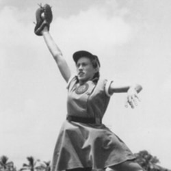 Dorothy Kamenshek in a photo from the National Baseball Hall of Fame
