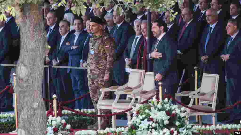 Prime Minister Saad Hariri attends Lebanon's Independence Day military parade, Beirut, Lebanon, Nov. 22, 2017.