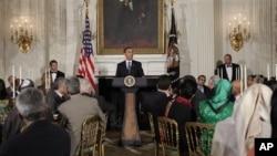 Başkan Obama'nın geçen yıl Beyaz Saray'da verdiği iftar yemeği
