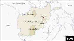 Peta Afghanistan.