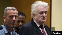 Радован Караджич під час апеляційного слухання в Гаазі 20 березня 2019 р.