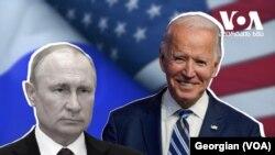 Joe Biden and Vladimir Putin