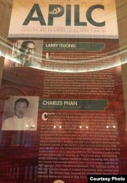 Charles Phan là một người Mỹ gốc Việt được Quốc hội tiểu bang tuyên dương (ảnh Bùi Văn Phú)