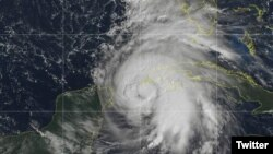 Satelitski snimak uragana Majkl