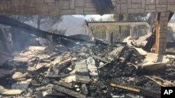 圣塔克雷利塔城附近被烧毁的房子(2016年7月24日)