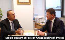 Dışişleri Bakanı Mevlüt Çavuşoğlu, Avrupa Birliği dönem başkanı Slovakya'nın Dışişleri Bakanı Miroslav Lajcak'la