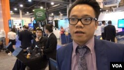 Milo Lu of HuangHua Group China. (G. Flakus/VOA)