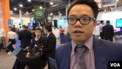Milo Lu of HuangHua Group China. (G. Flakus/VOA)