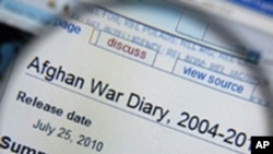 An Afghan War Diary on the Wikileaks website, 26 July 2010