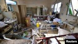 Bệnh viện của MFS ở quận Abs, tỉnh Hajja bị hư hại sau cuộc không kích của liên minh do Ả rập Xê-ut dẫn đầu, ngày 16/8/2016.