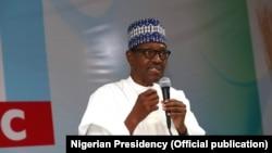 Shugaba Muhammad Buhari da matasan 'yan majalisun jihohin arewa maso yammacin Nigeria da Kaduna suka yi taron mara masa baya akan zaben 2019