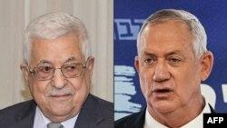 Presiden Palestina Mahmud Abbas (kiri) dan Menhan Israel Benny Gantz. (AFP PHOTO / HO / PPO)