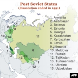 SSSRdan ajralib chiqqan respublikalar