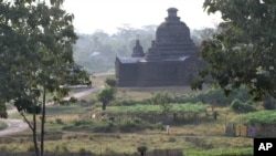 ancient pagoda in Mrauk-U, Rakhine