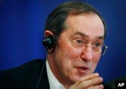 Claude Guéant à Sofia, le 18 avril 2011.