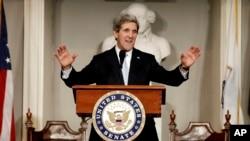 Ngoại trưởng Hoa Kỳ John Kerry. (AP Photo/Winslow Townson)