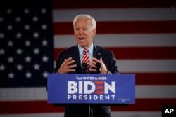 FILE - Democratic presidential candidate former Vice President Joe Biden speaks during a campaign event, Oct. 23, 2019, in Scranton, Pennsylvania.
