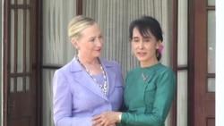 Clinton Meets with Aung San Suu Kyi