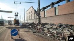 Разрушения вызванные ударной волной при взрыве метеорита.