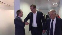 Susret Vučića i Hotija u Briselu