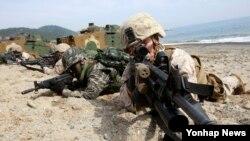 2014年3月31日,美國和南韓進行聯合軍事演習。