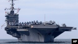 Kapal induk Amerika USS George Washington akan tiba hari ini di Filipina tengah (Foto: dok).