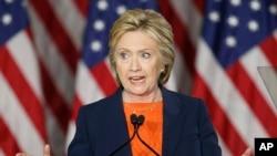 Hillary Clinton San Diego'daki konuşmasında