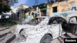 صومالی دارالحکومت موغادیشو میں ایک پولیس اسٹیشن کے نزدیک الشاب کا بم حملہ۔ 22 جون 2017