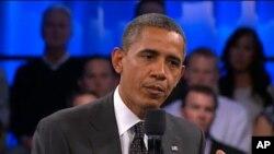 صدر اوباما ٹاؤن ہال میٹنگ