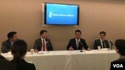 全球台灣研究所舉行美台海洋合作研討會(2016年10月12日,美國之音鍾辰芳拍攝)