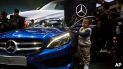 德國汽車製造商戴姆勒公司旗下的豪華車品牌平治在北京的一個銷售中心。