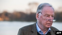 Alexander Gauland, co-leader of the far right Alternative for Germany party (AfD), poses prior to an interview with AFP journalists, Nov. 23, 2017, in Potsdam.