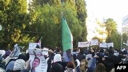 Протест проти президента Сирії Башара Асада у місті Гомс