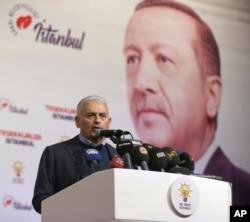 AKP partiyasının namizədi Binali Yıldırım