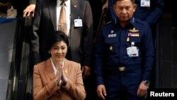 Perdana Menteri Thailand Yingluck Shinawatra di Bangkok (4/3).