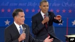 Obama e Romney no debate de terça-feira