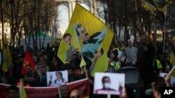 تظاهرات حامیان حزب کارگران کردستان در بروکسل - عکس از آرشیو
