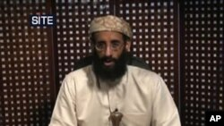 This image released by the SITE Intelligence Group on 23 October 2010 shows a video still image from a portion of an Anwar al-Awlaki lecture