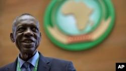 Issa Hayatou, ancien président de la CAF, en Éthiopie, le 16 mars 2017.