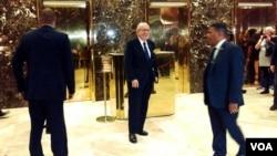 Рудольф Джуліані після зустрічі з Дональдом Трампом у Нью-Йорку