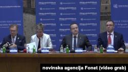 """Konferencijia """"Prolazimo kroz zidove"""" u okviru Sedme Beogradske NATO nedelje (Foto: video grab)"""