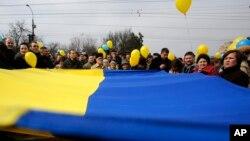 Симферополь, Крым. Украина. 9 марта 2014 г.
